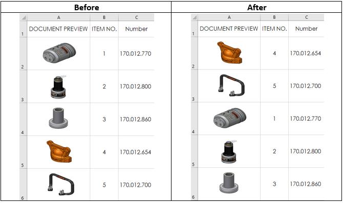 【教程】将SolidWorks物料清单导出到Excel时可带缩略图了❢