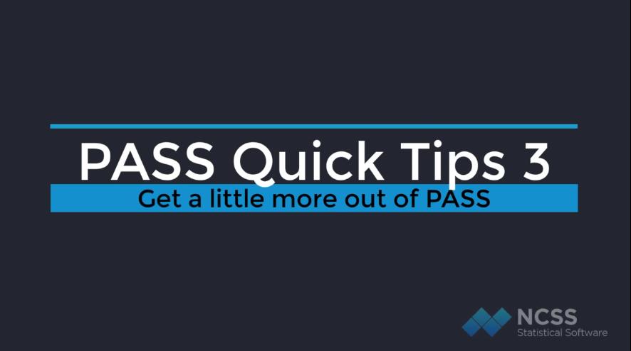 样本量估计软件PASS实用技巧(三):报告小数位数