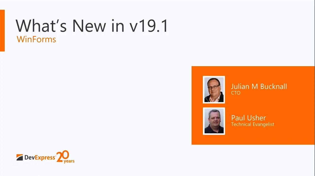 DevExpress v19.1新功能:Winforms控件新功能全解