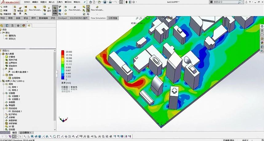 【视频教程】SolidWorks告诉你为什么两栋楼之间感觉风大?