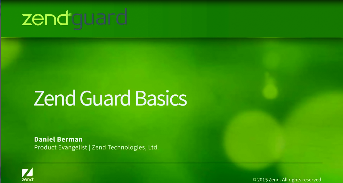 Zend Guard教学视频:基本工作流程