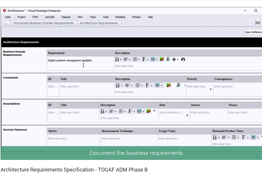 Visual ParadigmTOGAF ADM 指导:如何制定架构需求规范