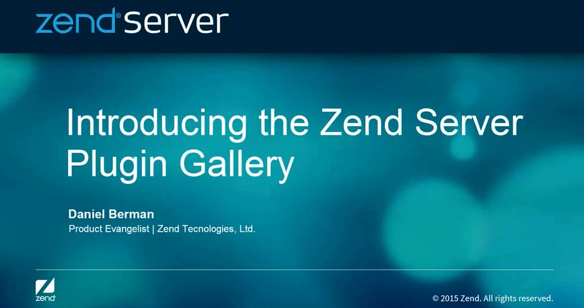Zend Server视频:介绍插件库