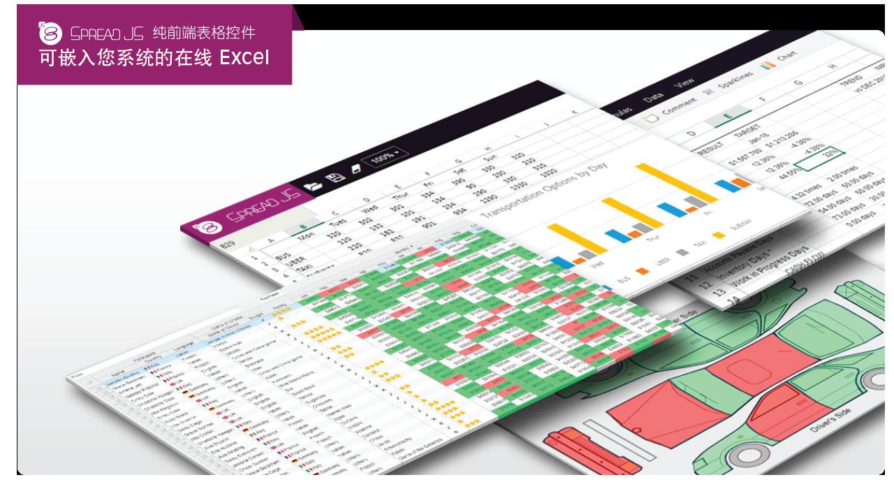 SpreadJS电子表格控件2020最新资源合集
