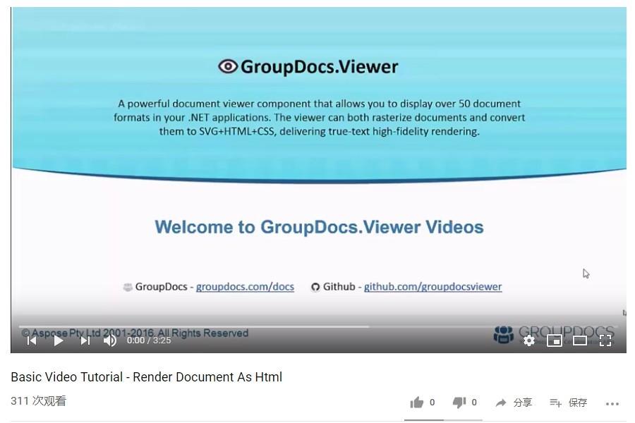 GroupDocs.Viewer教程:如何将文档渲染为Html