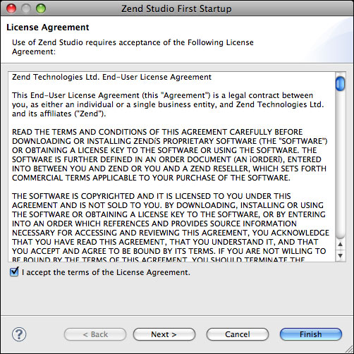 Zend Studio 9.0 最新版安装过程(Mac OS X)