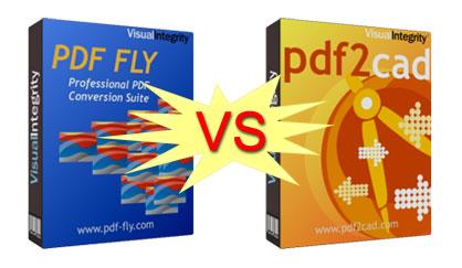 pdf2cad和PDF FLY区别比较