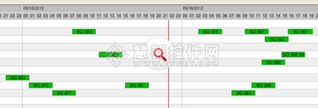 甘特图控件XGantt使用教程:在固定日期线下滚动时间刻度