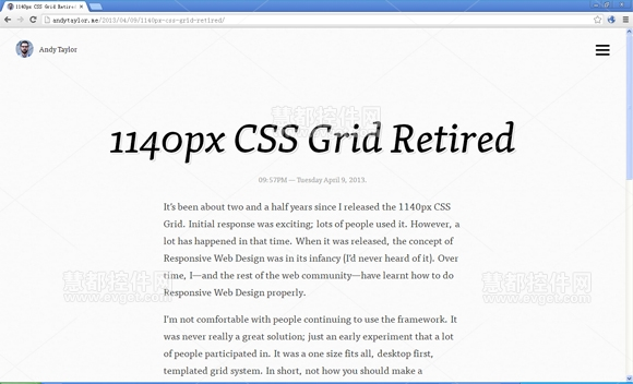 The 1140px CSS Grid,响应式网页设计