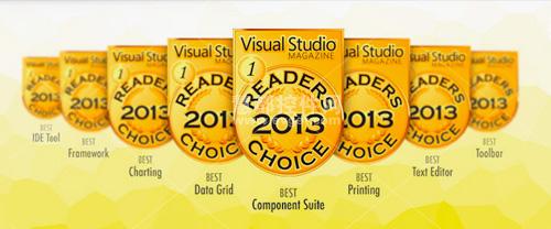 Devexpress,2013 Visual Studio Magazine读者选择奖界面类