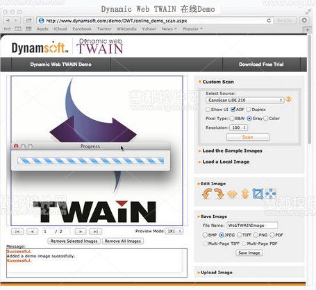 网页扫描识别控件Dynamic Web TWAIN v9.1在线Demo