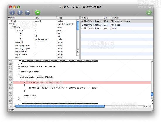 PHP调试工具,MacGDBp