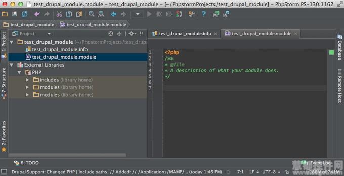 PhpStorm创建Drupal模块项目开发教程 1