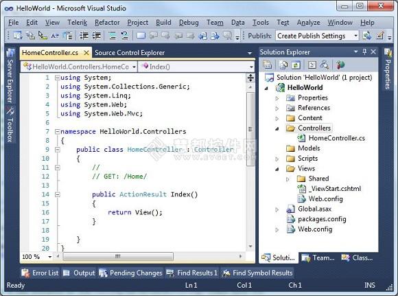 移动GIS控件Map Suite MVC使用教程:在MVC应用程序中添加Map Suite