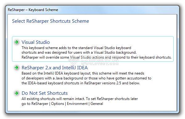 VS代码生成工具ReSharper使用手册:配置快捷键