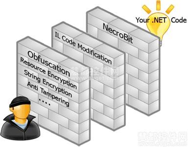 代码保护系如示意图