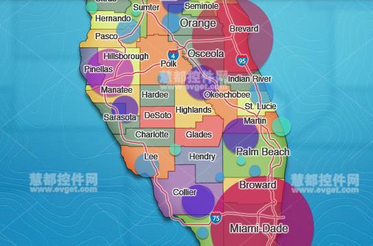 新版地图工具Chart FX Maps地图示例