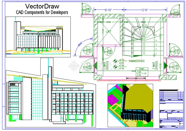 VectorDraw Developer Framework,CAD制图