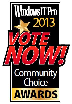 Windows IT Pro 2013社区选择奖,Infragistics