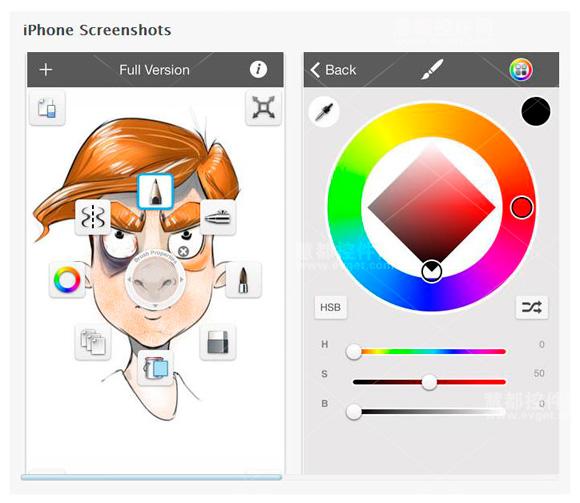 iPhone SketchBookX,草图绘制工具,前端开发工具,交互设计工具