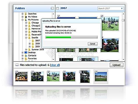 批量上传控件Aurigma Upload Suite拥有一个简洁而直观的图形用户界面(GUI)
