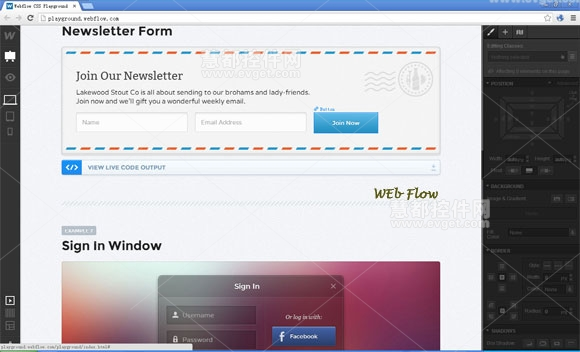 Webflow,界面设计工具