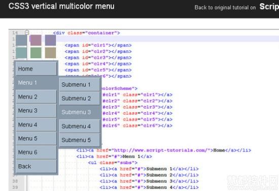 20个最炫HTML5,jQuery和CSS3下拉菜单制作教程(附示例/源码)
