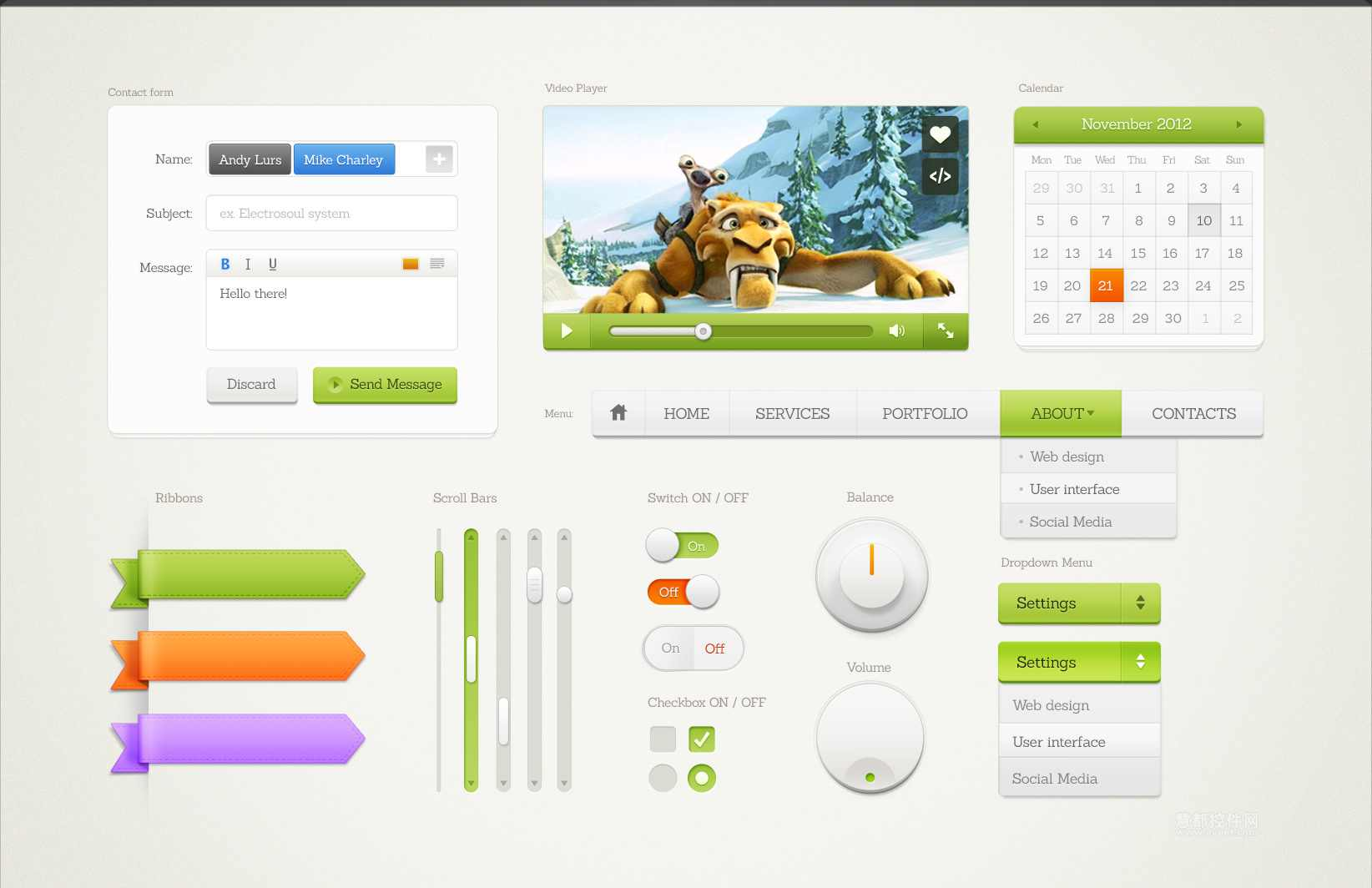 UI设计素材工预览具
