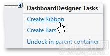 DevExpress Dashboard Ribbon