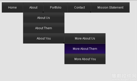 css3 minimalistic navigation menu:一个简单的css3动画导航菜单
