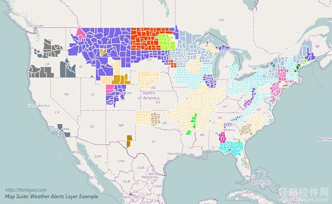 支持NOAA美国天气监控、预警和警告 - Map Suite 8.0测试版新功能