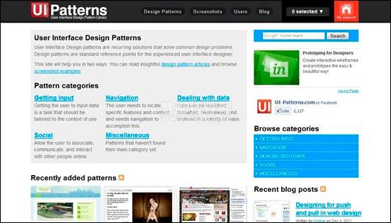 帮助解决用户界面一般设计难题的界面设计框架.