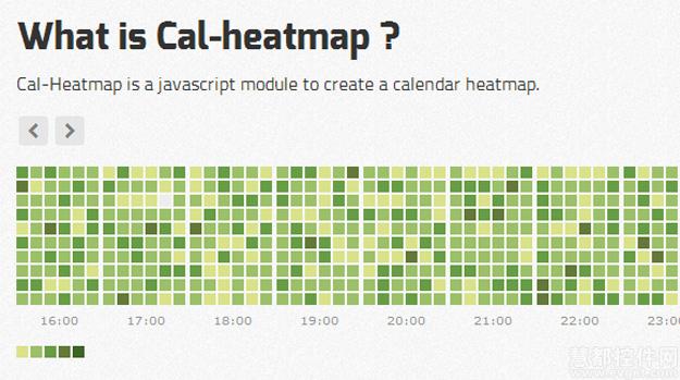 jQuery,日历插件,Cal-Heatmap