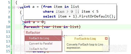 Coderush ForEach-To-Linq