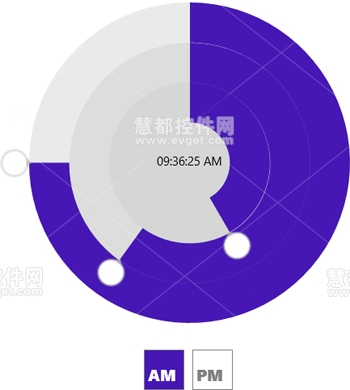 DevExpress Windows 8 Radial Time Picker