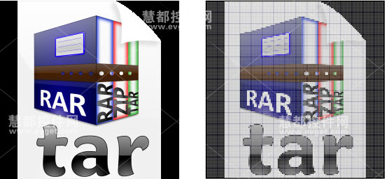 作为ICON模板的图像和原图的对比
