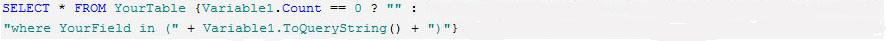 在报表开发工具中使用动态SQL查询功能