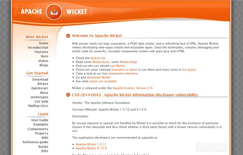 JAVA首选五款开源Web开发框架Wicket
