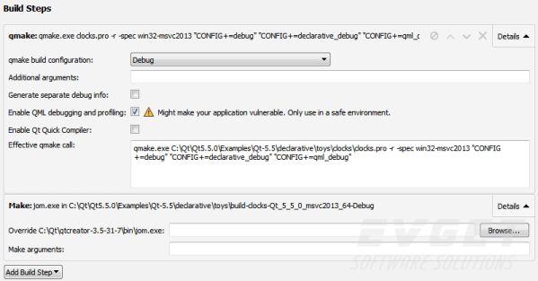 qt creator使用当前构建配置中定义的qt版本来运行