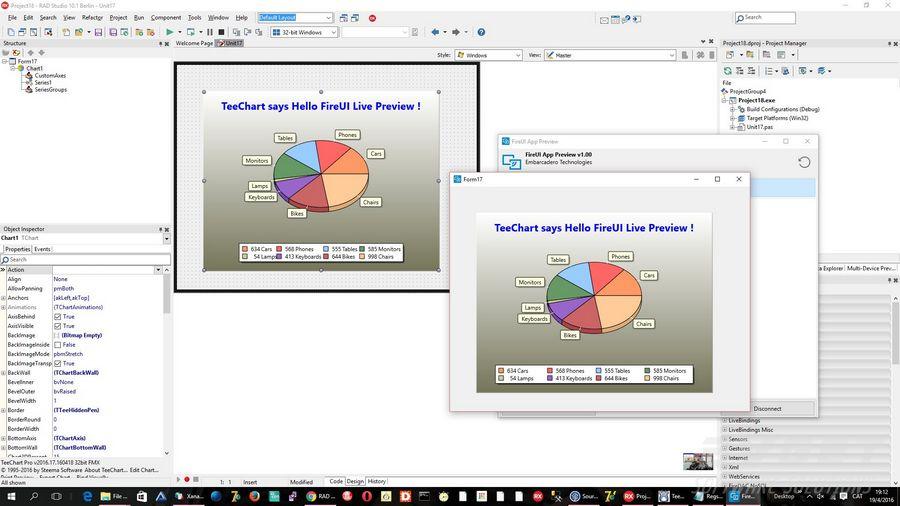 "RAD Studio 10.1 Berlin发布,添加TeeChart到""FireUI实时预览""工具"