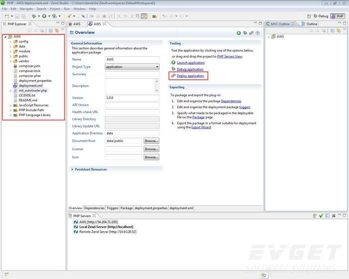 在AWS上Zend Studio使用Zend Server开发应用程序
