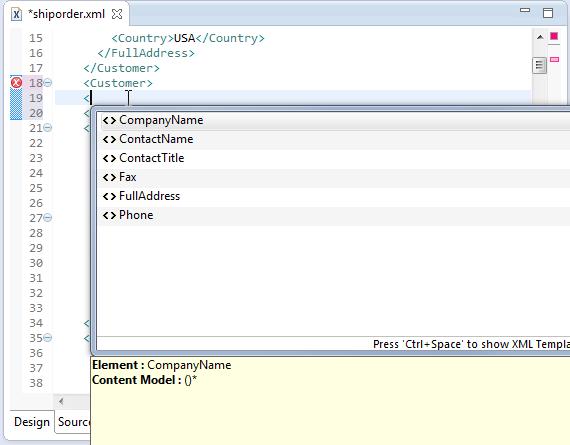 MyEclipse XML编辑器