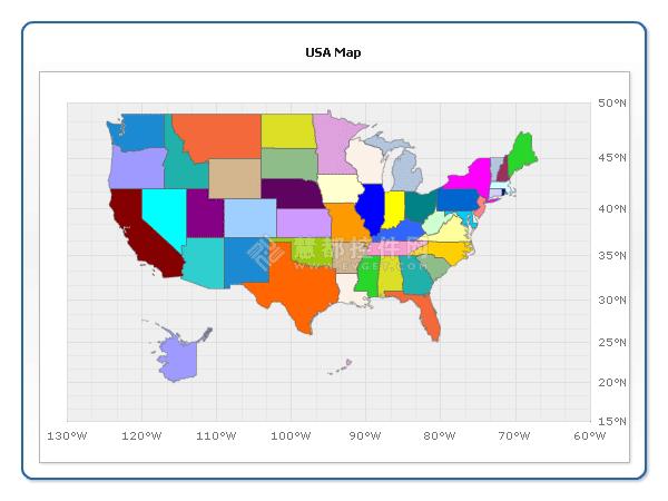 flash地图,USA Map