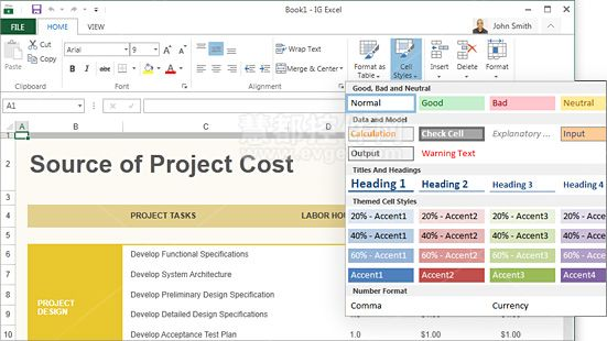 Wpf Spreadsheet Editing Formatting