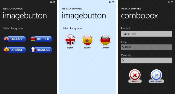 Resco MobileForms Toolkit - PhoneImageButton大图