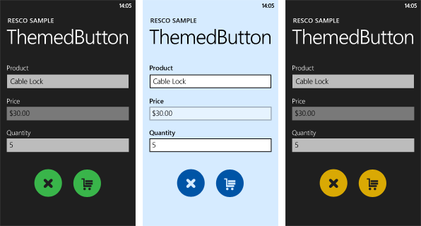 Resco MobileForms Toolkit - ThemeButton大图
