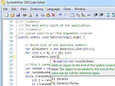 一个功能强大、高效率并支持代码编辑功能的文本编辑控件,功能包括语法高亮、代码注释、代码分析、块选择、IntelliPrompt界面等。