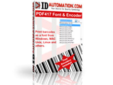 PDF417 Barcode Font and Encoder
