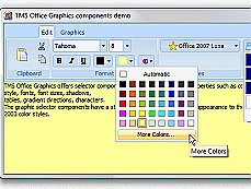 TMS Advanced Office Graphics Control Pack是一个界面控件套包,可创建与office同样风格的界面。