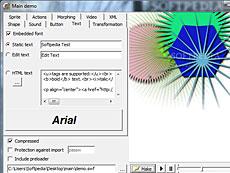 一款包含Pasca对象库,用来制作SWF文件的程序